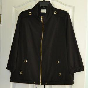 Chico's Zenergy Size 2 black w/ gold jacket